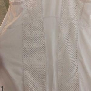 Zella Tops - Zella white mesh insert tank